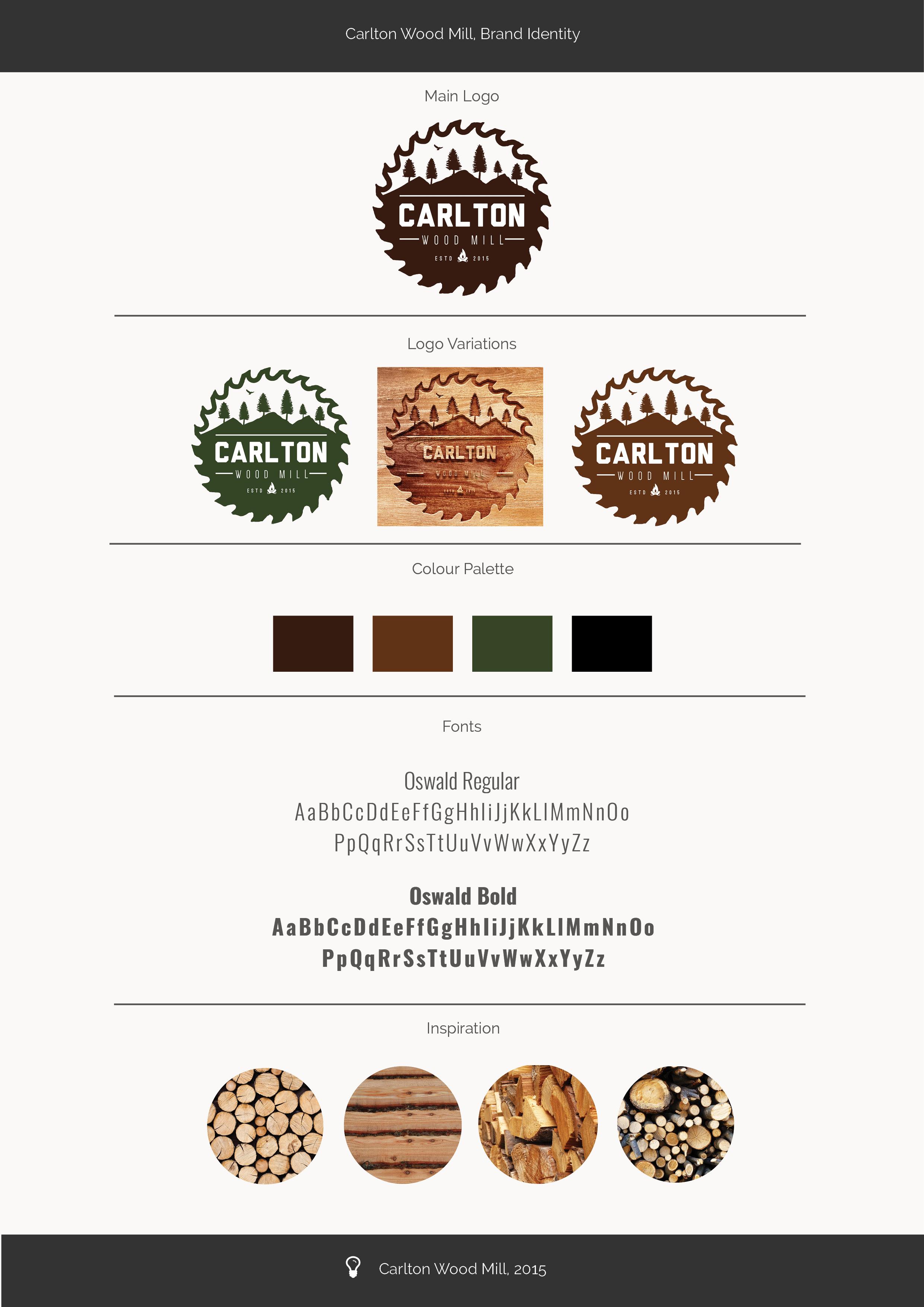 Carlton Woodmill Brand Identity