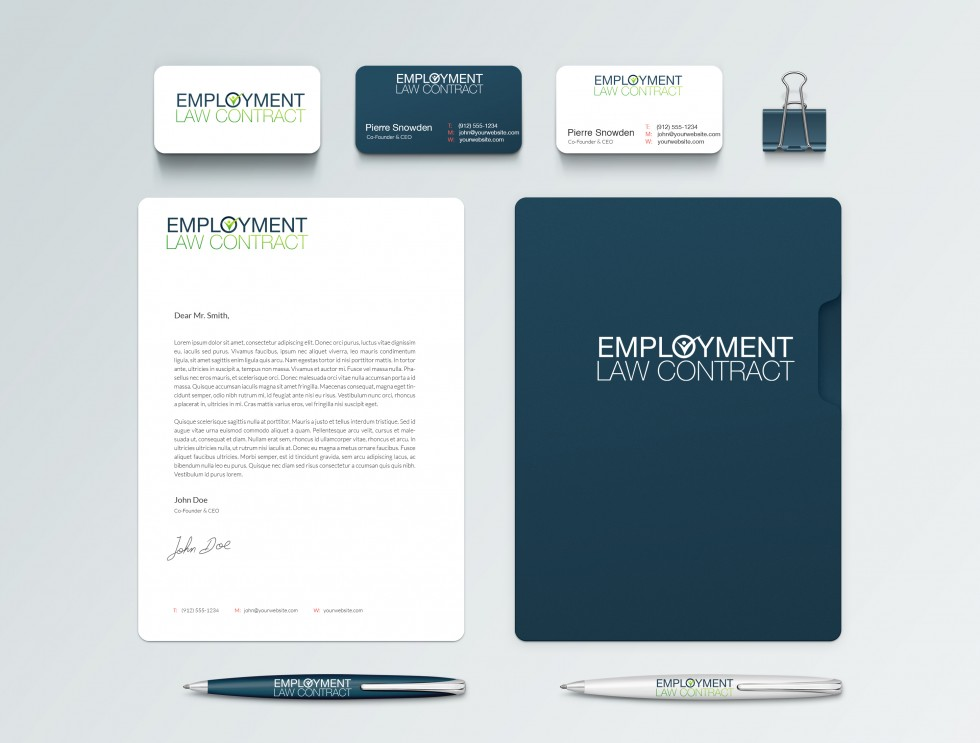 Employment Law Contract Brand Identity