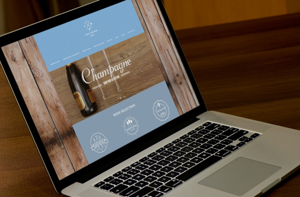 Food and Fine Wine Website Home Page