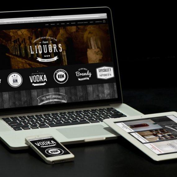 Ludicrous Liquor Website Home Page