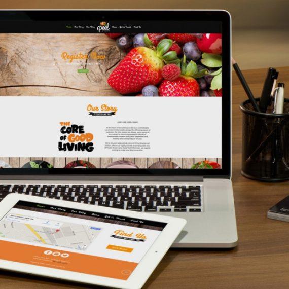 Peel Juice Bar Website Home Page