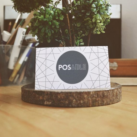 POSable Business Card Blue