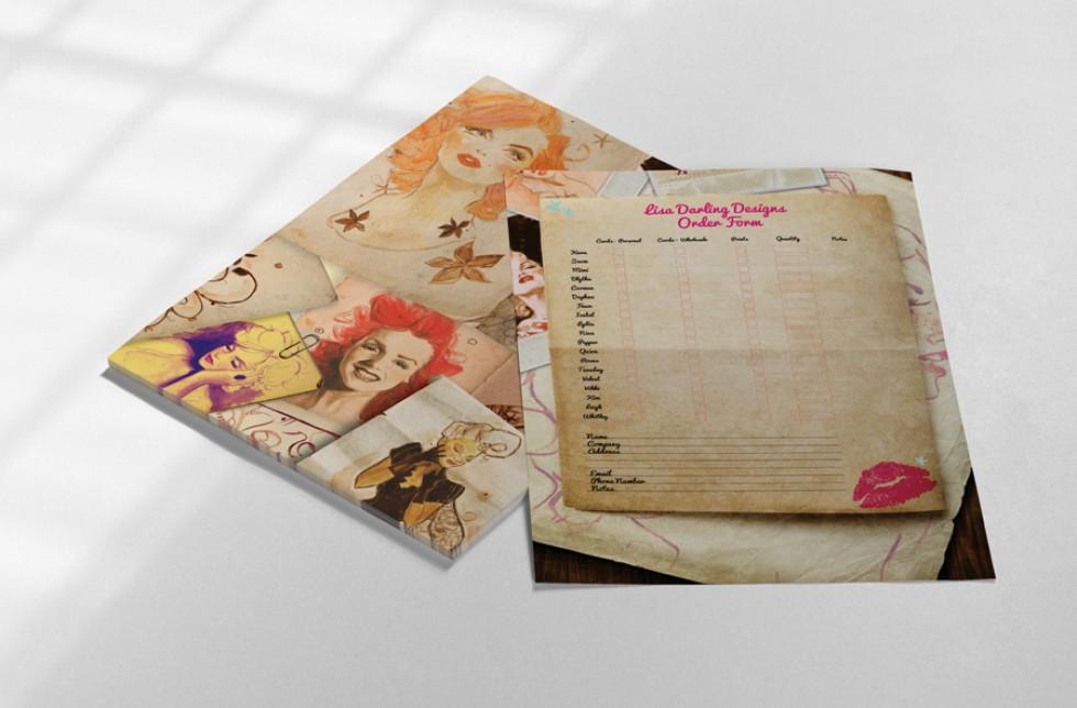 Lisa Darling Order Form Design