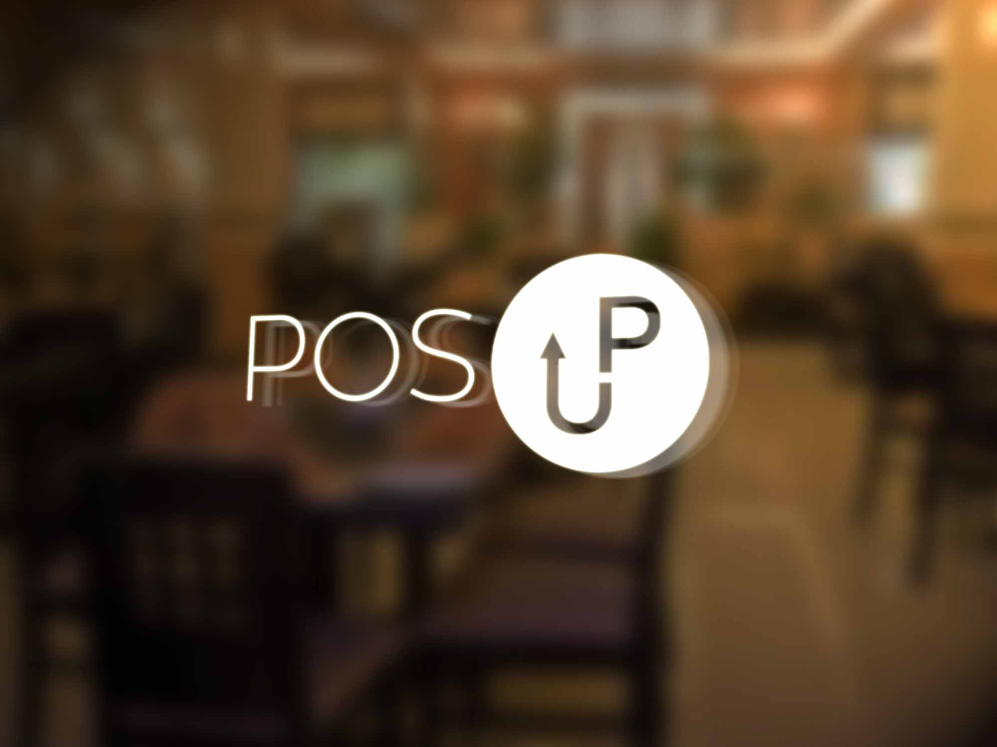 POS up Logo Mockup