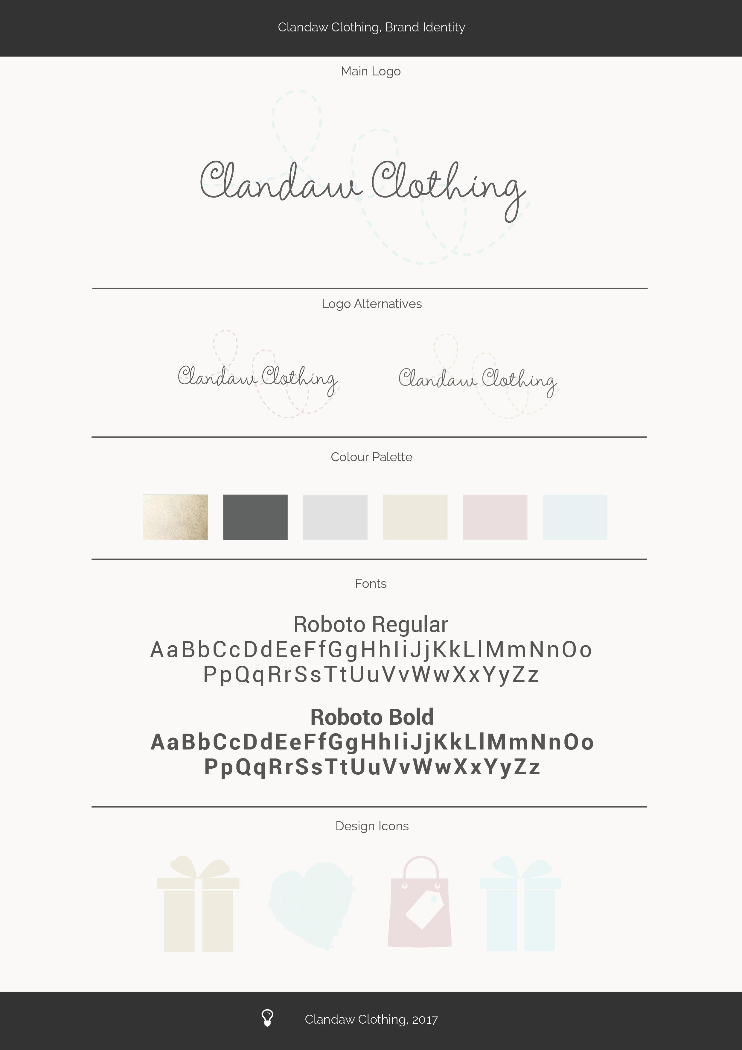 Clandaw Clothing Brand Identity