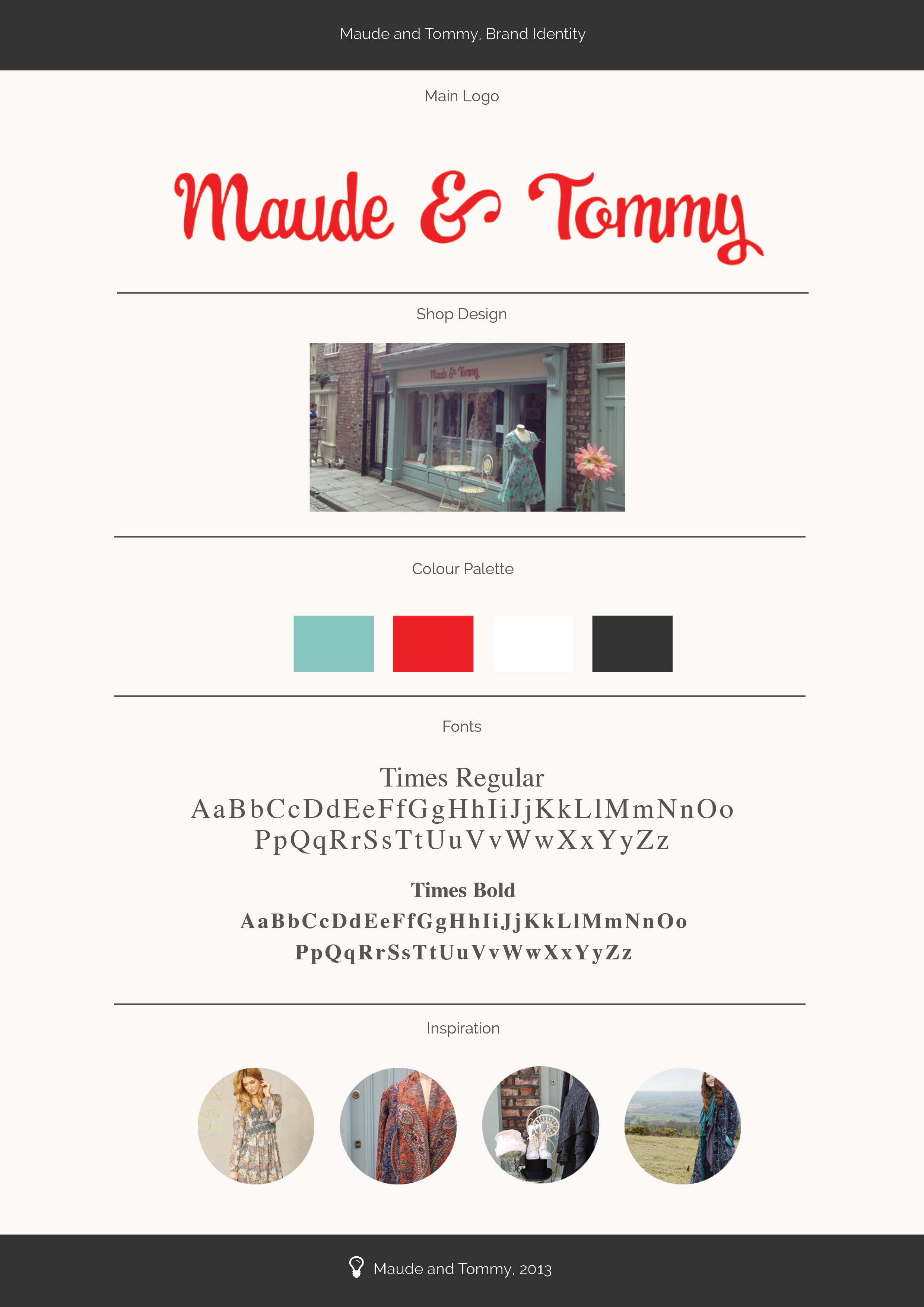 Maude and Tommy Brand Identity
