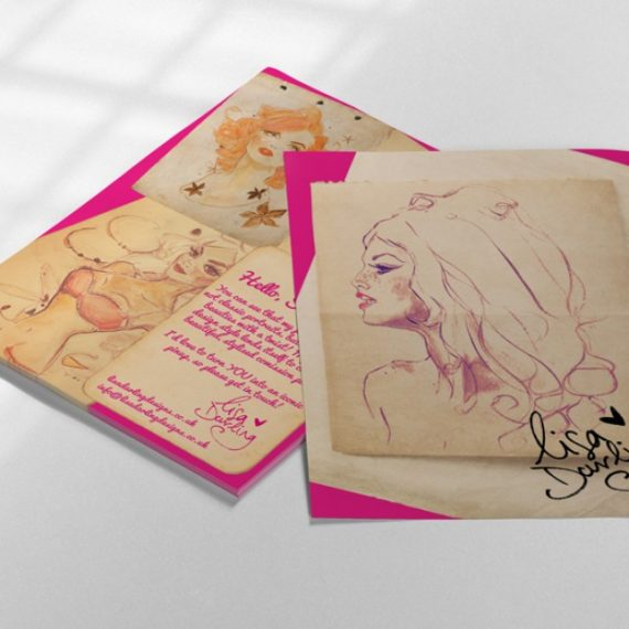 Lisa Darling Postcard Design