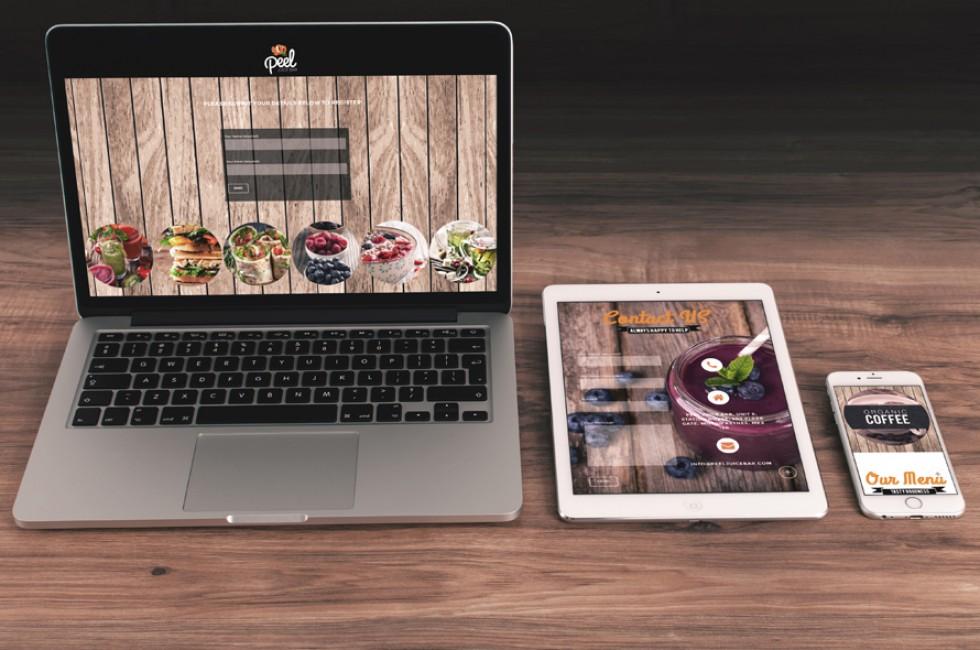 Peel Juice Bar Website Contact Page