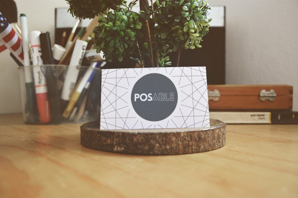 POSable Business Card Blue