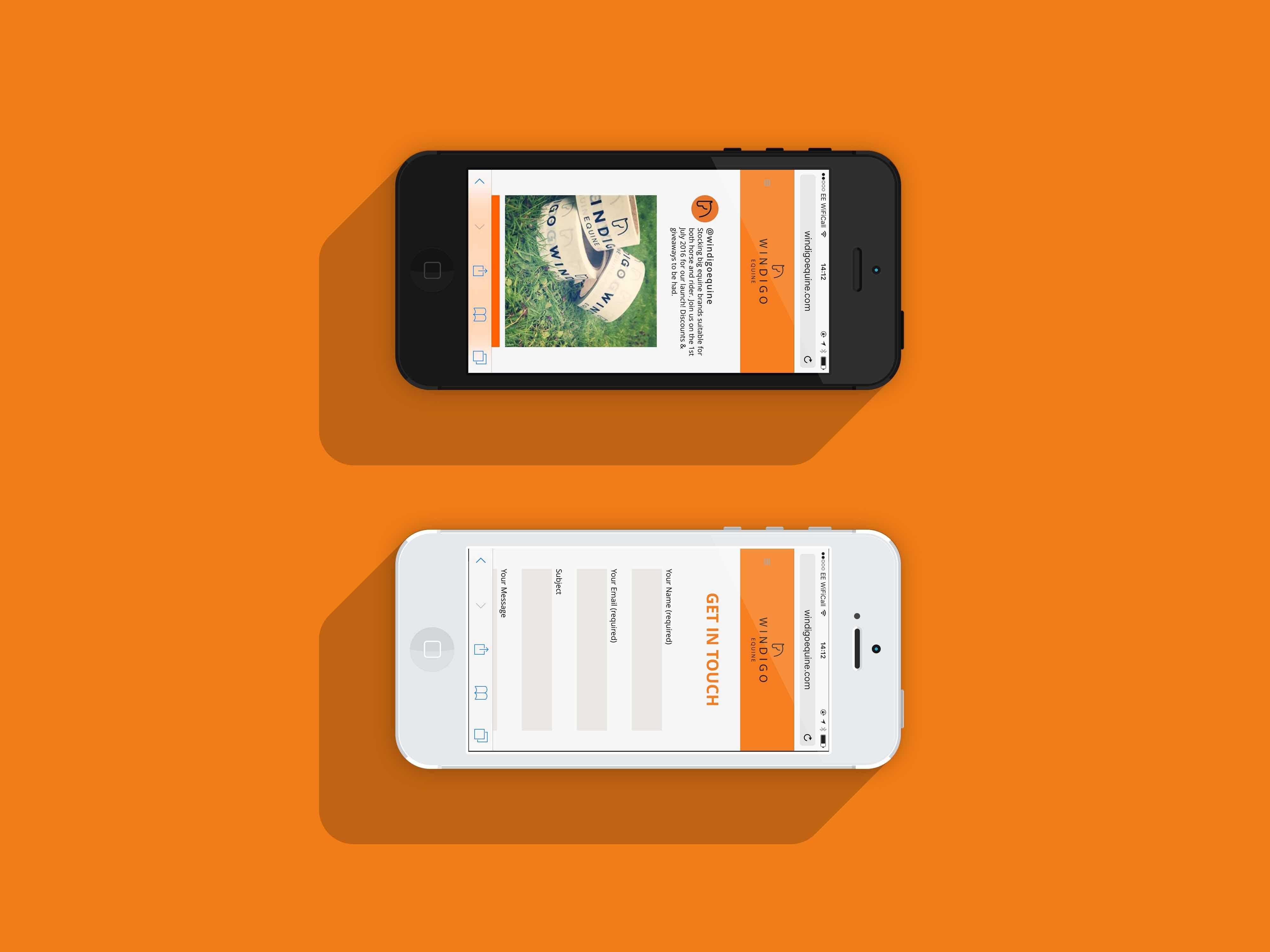 Windigo Mobile Website Contact Page