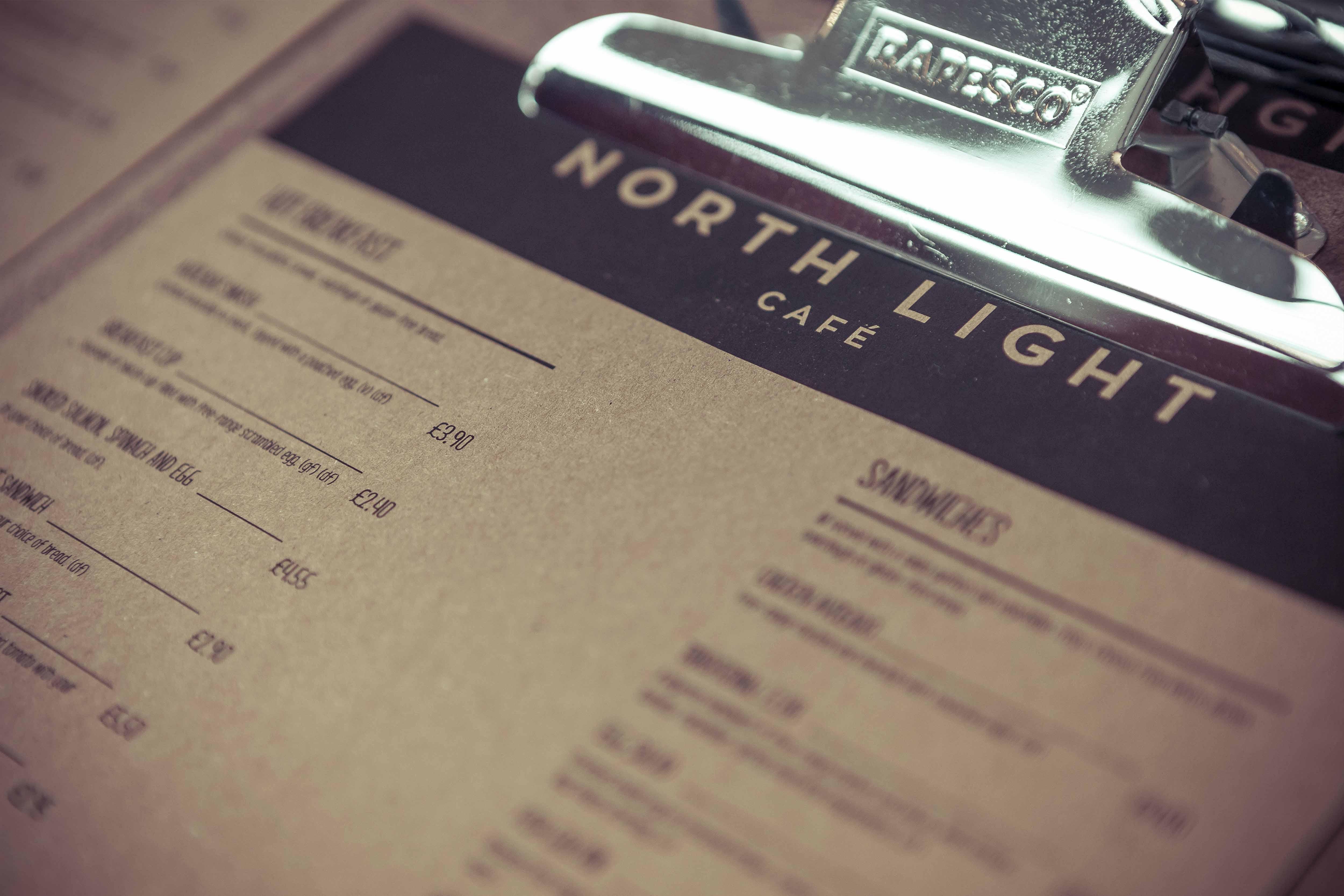 North Light Menu Design