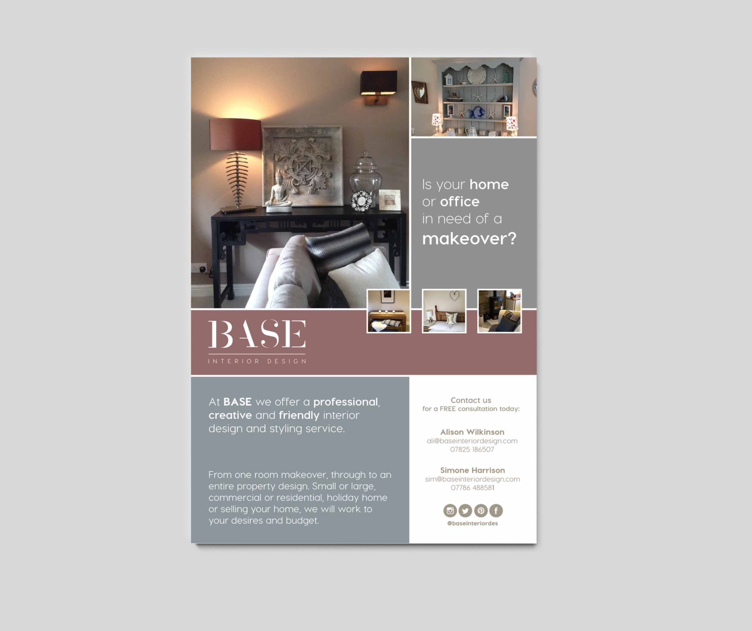 Base Interior Design Leaflet