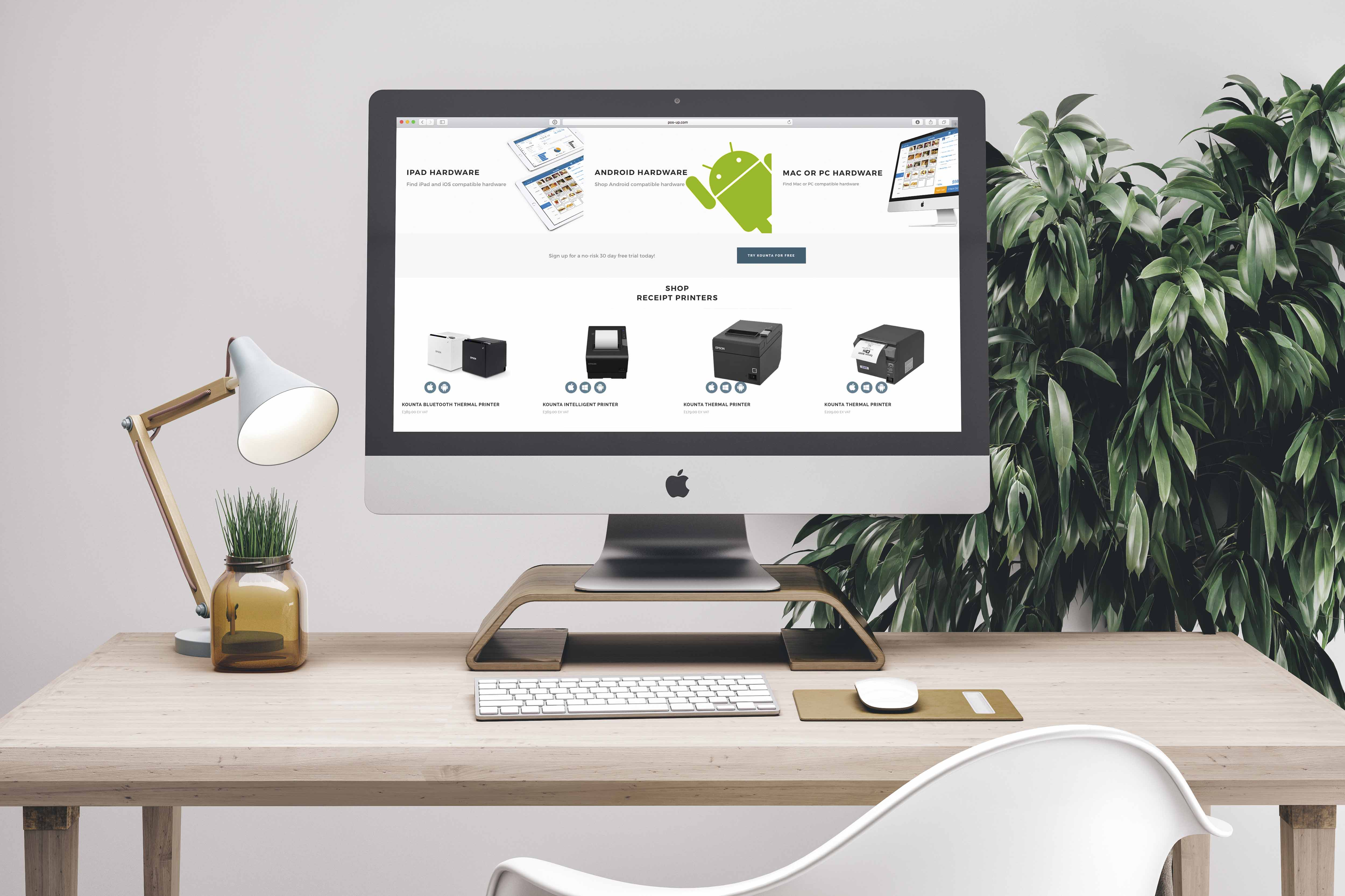 POS up Website Product Page